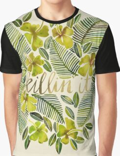 Killin' It – Tropical Yellow Graphic T-Shirt
