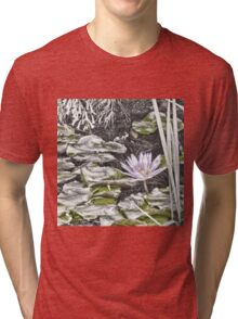 Faded water lily Tri-blend T-Shirt