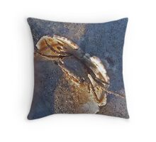 crab on the half shell Throw Pillow