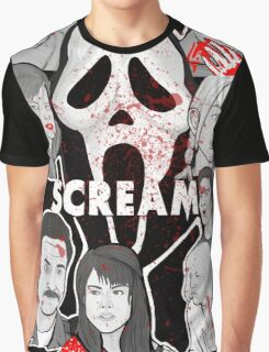 Scream character collage Graphic T-Shirt