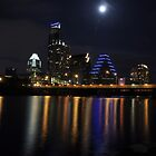 Austin skyline at night by Nazm  Photography