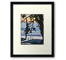Sunset, Family Walks With Dog Framed Print