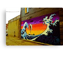 The Great Wave...Graffit style Canvas Print