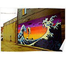 The Great Wave...Graffit style Poster