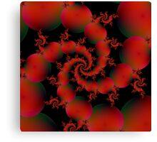 Tomato Spiral Canvas Print