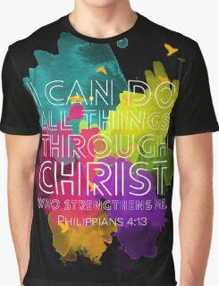 Philippians 4:13 Graphic T-Shirt