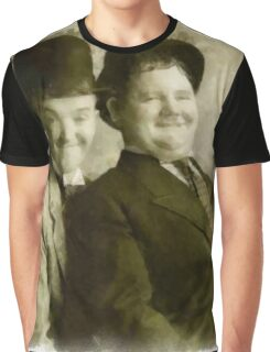 Laurel and Hardy by John Springfield Graphic T-Shirt