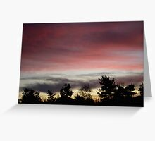 Sunrise Over the Forest Greeting Card