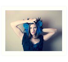 Ahnna In Blue 2 Art Print