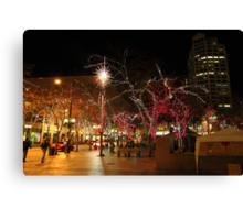 Seattle night Canvas Print