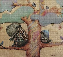 birds and butterflies by © Karin (Cassidy) Taylor