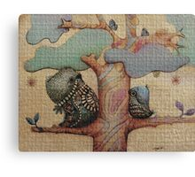 birds and butterflies Canvas Print