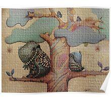 birds and butterflies Poster