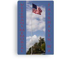 new veterans memorial flagpole, fairhaven, washington, usa Canvas Print