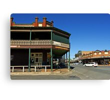 Commercial Hotel at Junee Canvas Print