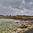 Causeway to Griffiths Island Lighthouse Port Fairy VIC by bowenite