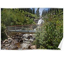 The footbridge over Steavenson Falls, Marysville, Australia Poster