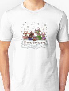 Merry Christmas Reindeer Family Unisex T-Shirt