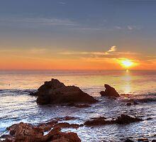 Corona Del Mar Sunset Panorama - HDR by Eddie Yerkish