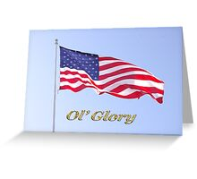 ol' glory Greeting Card