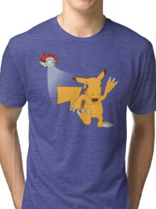 Digital Pocket Monsters Tri-blend T-Shirt