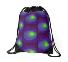 Peacock Orb Drawstring Bag