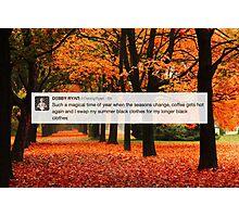 Debby Ryan Fall Tweet Photographic Print