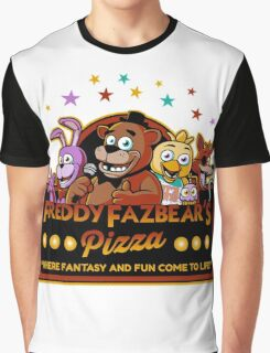 Five Nights at Freddy's Freddy Fazbear's Pizza FNAF logo Graphic T-Shirt