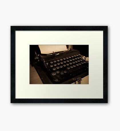 Antique Typewriter Framed Print