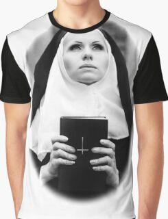 Satanic Nun Graphic T-Shirt