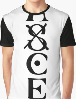 Ace Tatto - Black on White Graphic T-Shirt