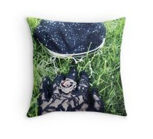 The Girl with the Black Glove 2 Throw Pillow