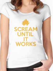 Keep Calm and Scream Until It Works Women's Fitted Scoop T-Shirt