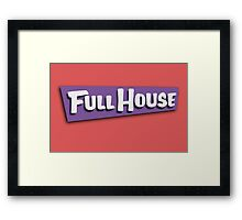 Full House Logo Framed Print