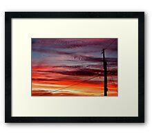 ~ suburban sunset ~ Framed Print