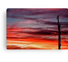 ~ suburban sunset ~ Canvas Print