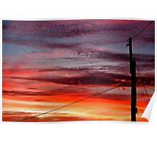 ~ suburban sunset ~ Poster
