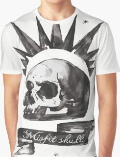 Chloe's Shirt - Misfit Skull Graphic T-Shirt