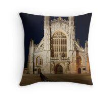 Bath Abbey at night Throw Pillow