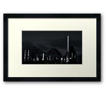Graveyard at night Framed Print