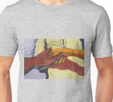 A street mural handshake Unisex T-Shirt