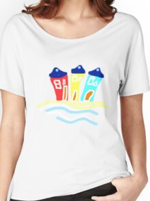 HAPPY BEACH HUTS tee/baby grow Women's Relaxed Fit T-Shirt