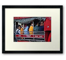 Street Taxi Framed Print