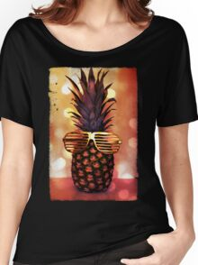 Pineapple with Grill Glasses Women's Relaxed Fit T-Shirt