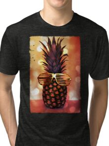 Pineapple with Grill Glasses Tri-blend T-Shirt