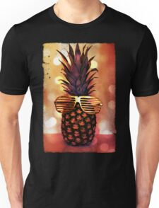 Pineapple with Grill Glasses Unisex T-Shirt