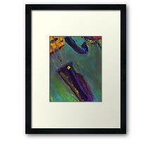 Abstract Viola Painting Framed Print