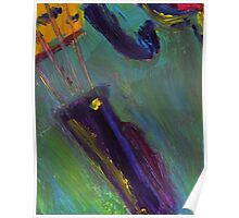 Abstract Viola Painting Poster
