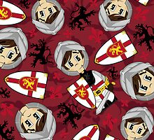 Cute Medieval Crusader Knight Pattern by MurphyCreative