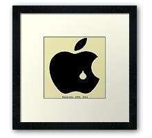 steve jobs in memory Framed Print